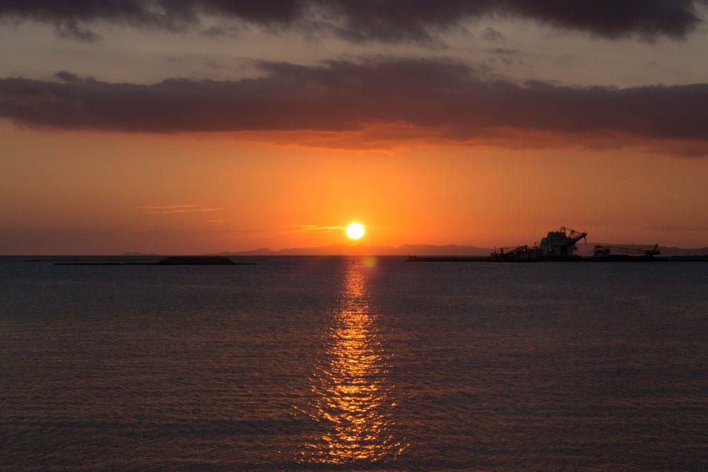 瀬長島(せながじま)の夕焼け