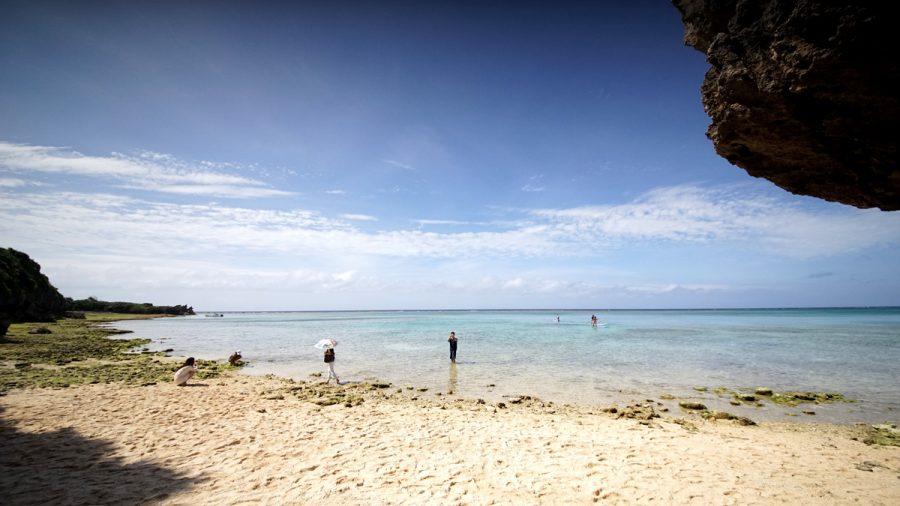 備瀬のワルミ(びせのわるみ)から見る沖縄の海