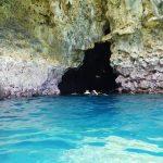 青の洞窟(あおのどうくつ)入り口 真栄田岬