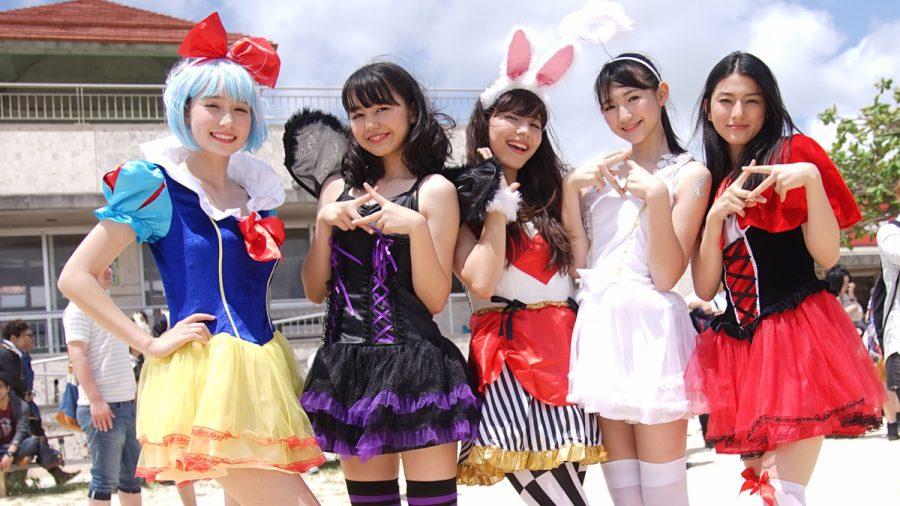 5人の美女の笑顔島ぜんぶでおーきな祭(沖縄写真)Chuning Candy