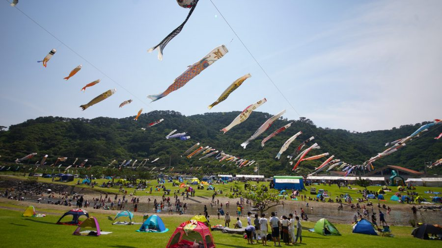 こいのぼりイベント奥ヤンバル鯉のぼり祭り