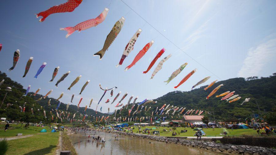 奥ヤンバル鯉のぼり祭りの風景