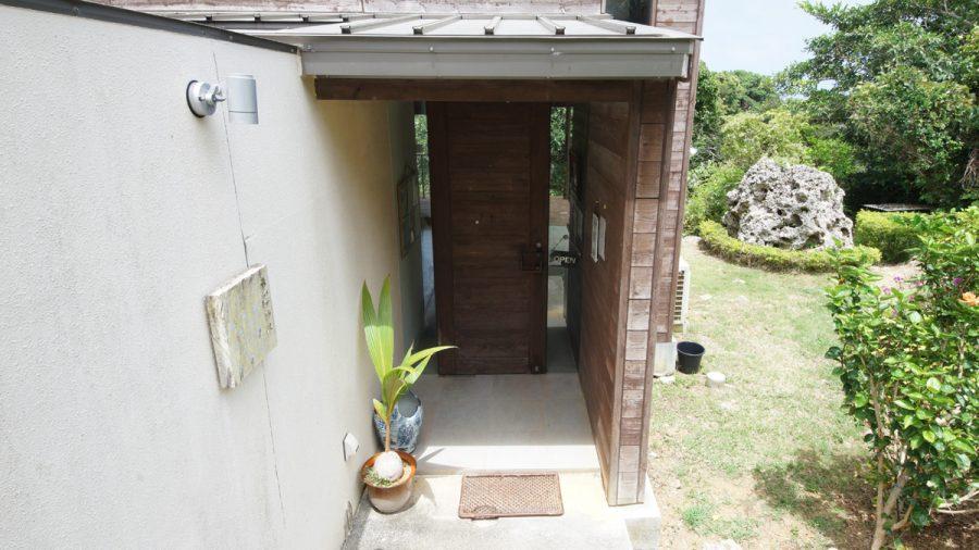 Cafe森のテラス(かふぇもりのてらす)入り口