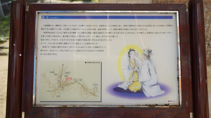 親川(ウェエガア)看板