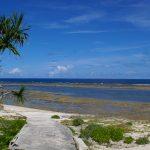 久高島のイシキ浜(いしきはま)の風景