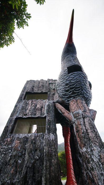 辺戸岬のヤンバルクイナ展望台(やんばるくいなてんぼうだい)の真正面