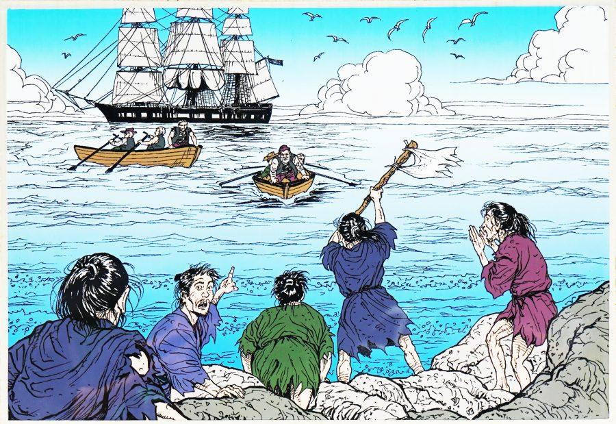 大度浜海岸(ジョン万ビーチ)沖縄ジョン万次郎のストーリ1