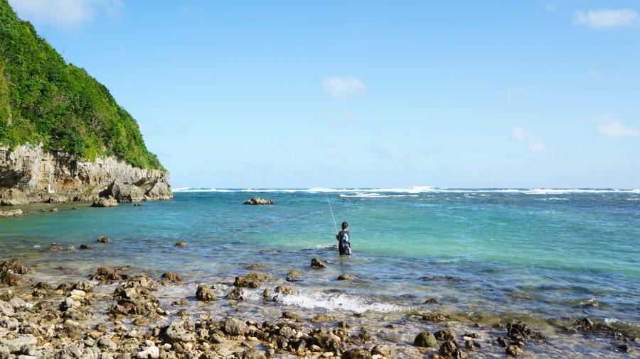 大度浜海岸(ジョン万ビーチ)釣り人・漁師