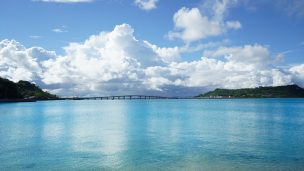 浜比嘉島の海と大橋