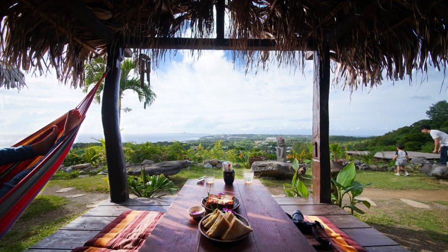 亜熱帯茶屋(あねったいちゃや) ハンモックテラスガーデンから見る絶景