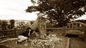 富盛の石彫大獅子 アメリカ兵が何を見ていたのか?気になり・・・