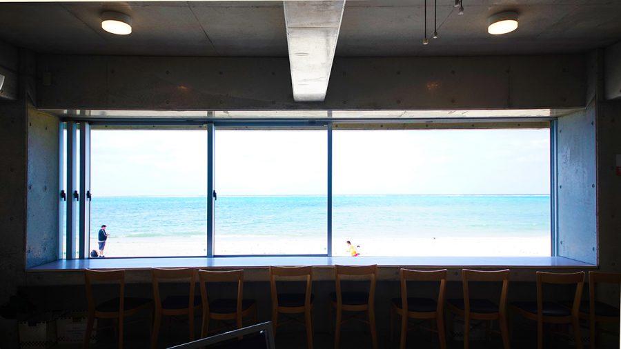 On the Beach CAFE(オン ザ ビーチ カフェ)店内からの風景