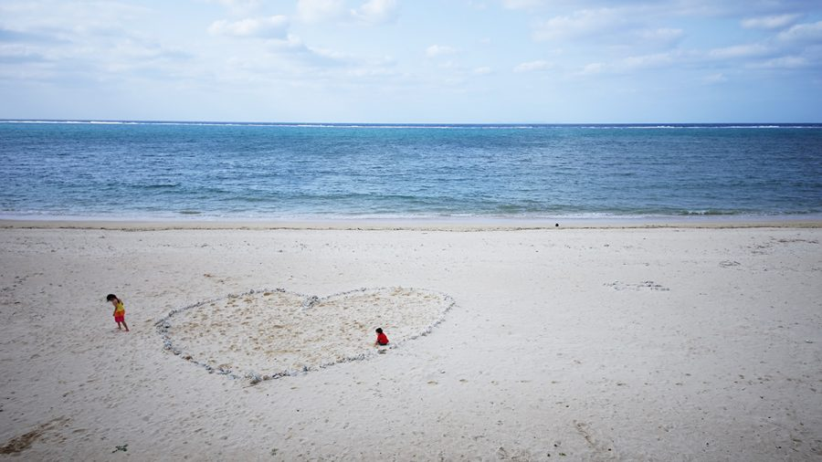 On the Beach CAFE(オン ザ ビーチ カフェ)珊瑚で作られたハート型
