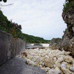 玻名城ビーチ(はなしろびーち) 奥の道
