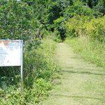 塩川 国指定天然記念物(しおかわ くにしていてんねんきねんぶつ)看板と通路