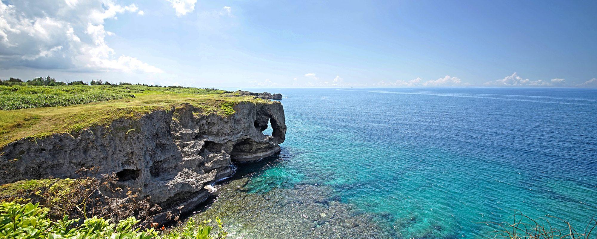 沖縄の絶景写真 万座毛